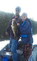 great day fishing with son